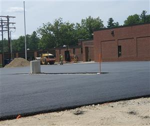 New Pavement at MES Parking Lot